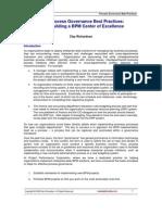 BPM ProcessGovernanceBestPractices
