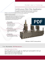 Equity Continuous Slot Die - Adhesive Applicator
