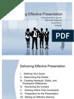 Delivering Effective Presentation