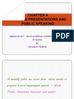 CHAPTER 4 – BUSINESS PRESENTATIONS AND PUBLIC SPEAKING