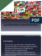Antecedente y definición Las Relaciones Internacionales