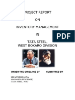 Project Report on TATA STEEL Inventory Managment
