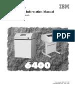 Ibm 6400 Maintenance Manual (Parts, Service Manual)