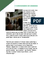 Secretos y Curios Ida Des de Granada