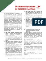 Normas Que Rigen El Desempeno de Tuberias Plasticas