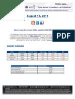 ValuEngine Weekly Newsletter August 19, 2011