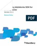 BlackBerry WebWorks SDK for Smartphones Release Notes Version 2.1.1