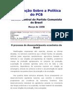 Declaração Sobre a Política do PCB - Março de 1958