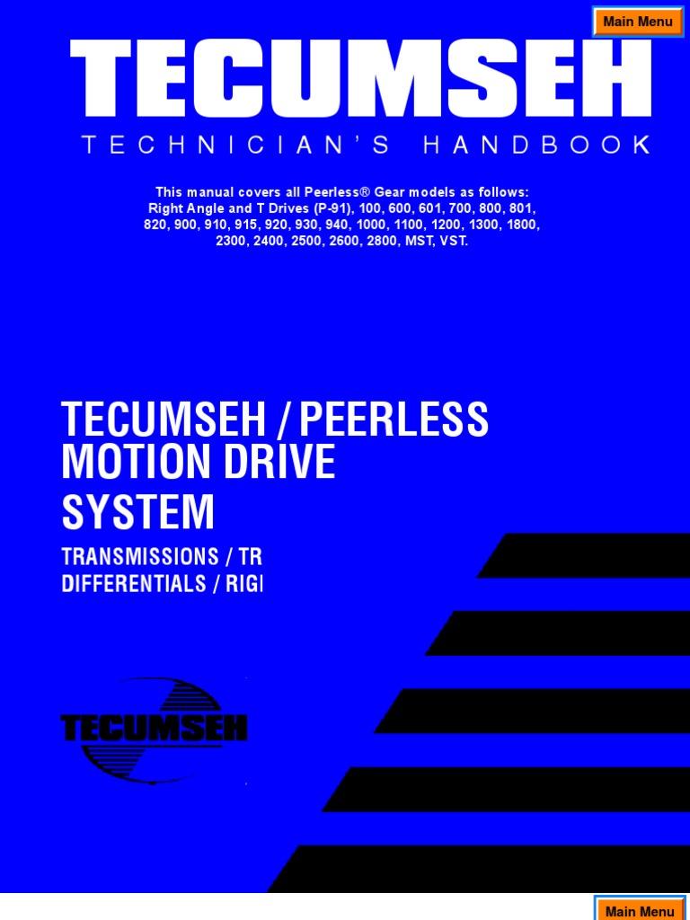 Peerless Transaxle Manual | Transmission (Mechanics) | Gear