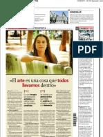 Entrevista Carla Lazcano-Diario La Tribuna de Albacete
