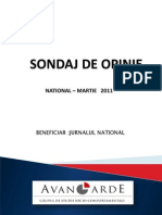 Sondaj de Opinie National-martie 2011