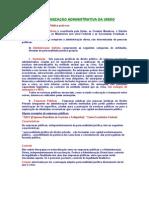 Direito Administrativo - ORGANIZAÇÃO ADMINISTRATIVA DA UNIÃO