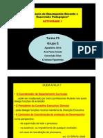 AVALIAÇÃO DO DESEMPENHO DOCENTE E SUPERVISÃO PEDAGÓGICA