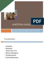 Anestesia Raquídea