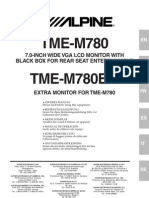 Alpine Tme-m780 Em En