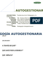 PEDAGOGÌA AUTOGESTIONARIA