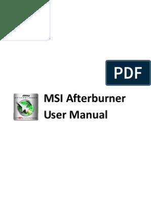 Afterburner User Manual   Graphics Processing Unit ... on