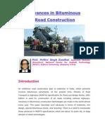 50923638 Advances in Bituminous Road Construction by Prof Prithvi Singh Kandhal