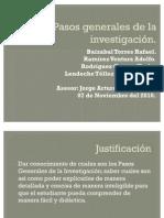 Pasos Generales de La Investigacion