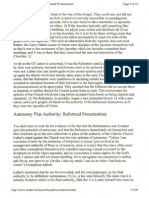Tradition and Authority in Reformed Protestantism 6