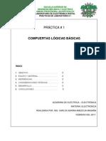 PRACTICA 1 Caracteristicas de Compuertas Logicas