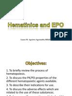 Hematinics and EPO