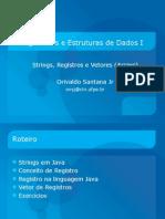 Strings Registros Vetores