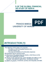 The Effects of the Global Financial Crisis a Case Study of Kenya