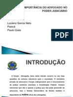 A IMPORTÂNCIA DO ADVOGADO NO PODER JUDICIÁRIO   SLIDS