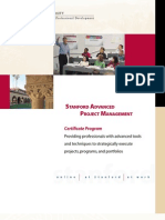 Stanford Advanced Project Management Brochure