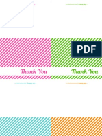 Striped Thank You Note Cards - The Twinery