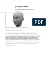 3D Modeling a Human Head