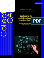 Les leçons de mathématiques à l'oral du CAPES