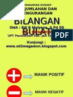 Operasi Bilangan Bulat Dengan Manik-Manik - SD 3 Megawon