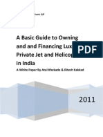 A Basic Guide to Owning and Financing Luxury Private Jet and Helicopter in India.
