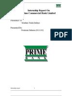 Final Report of Prime Bank