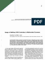 Design of multiloop siso systems