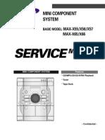 Manual de Servicio Samsung MAX-X55!56!66