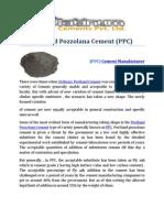 (PPC) Portland Pozzolana Cement