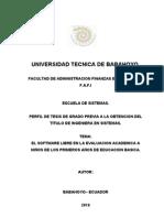 Proyecto Software Libre y La Evaluacion Academic A.