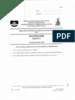 TRIAL MATE Pmr 2011 Kelantan Paper 1