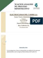 Proceso Adm. Electroclimas Del Caribe S.a.