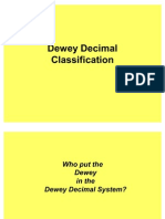 Dewey Decimal Classification Ppt