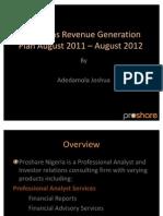 6months Revenue Generation Plan