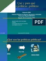 Qué y para qué las políticas públicas