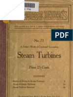 Steam Turbines 1911