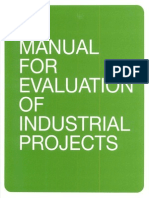 Manual for Evaluation of Industrial Projects, UNIDO