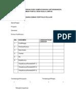Senarai Semak Folio Pelajar