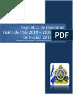 Vision de Pais - PLAN NACIONAL DE PAIS HONDURAS