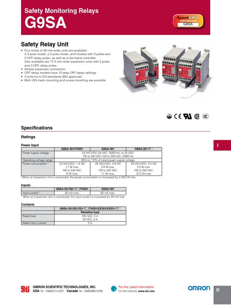 G9SA Datasheet | Relay | Switch on